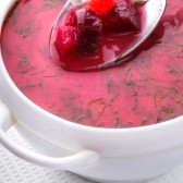 25432510-beetroot-soup-in-the-white-bowl-close-up